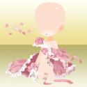 ローズバタフライと乙女の吐息・ホワイトカラー ピンク