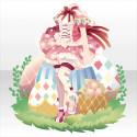 エッグラビットコルセットワンピB ピンク