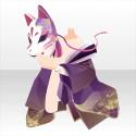 藤守人の面A 紫