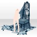 薔薇散る古城の椅子 ブルー