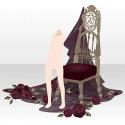 薔薇散る古城の椅子 レッド