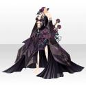 憂える薔薇淑女のドレスA ブラック