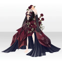 憂える薔薇淑女のドレスA レッド