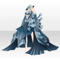 憂える薔薇淑女のドレスB ブルー