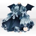 薔薇少女のワンピースB ブルー