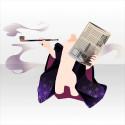 椿ビヰドロ新聞とキセルA 紫