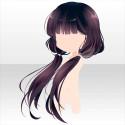 椿少女のおさげ髪 紫