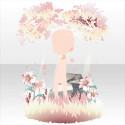 百合の花咲く秘密の木陰B 桃