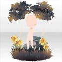 百合の花咲く秘密の木陰B 黄
