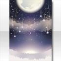 星降る月夜の背景 紫
