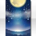 星降る月夜の背景 青