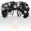 花咲く深き森の入り口 モノクローム