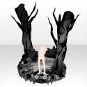花咲く深き森のヴィネット モノクローム