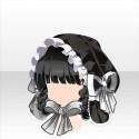 三つ編みシャプロンスタイルA 黒