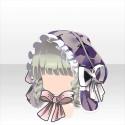 三つ編みシャプロンスタイルA 紫