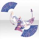 玉響乙女の剣扇舞衣装B 白