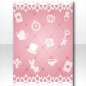 アリスパターンの背景 ピンク