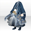 羽織袴の武家装束B 青