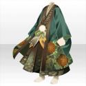 羽織袴の武家装束B 緑
